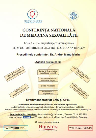 Conferinţa Naţională de Medicina Sexualităţii, ediția XVIII