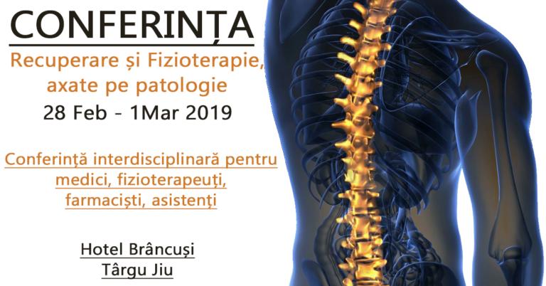 """Conferința """"Recuperare și Fizioterapie, axate pe patologie"""", prima ediție are loc la Târgu Jiu, între 28 februarie-1 martie"""