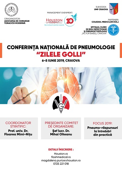 Simpozionul Național de Pneumologie Zilele Golli, Craiova     Ediția VI