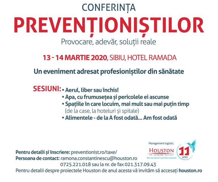 Conferința Prevenționiștilor, 13-14 martie 2020, Sibiu